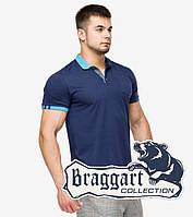 Braggart | Рубашка мужская поло 6990 т.синий-голубой