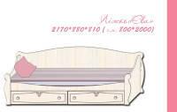 Кровать полуторная Ева для девочки, фото 1