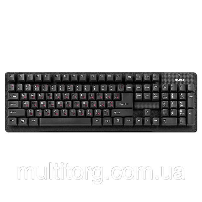 Клавіатура SVEN Standard 301 USB чорна