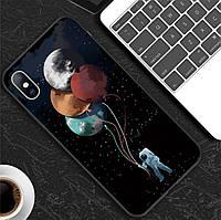 """Защитный чехол """"Космонавт"""" для смартфона Apple iPhone 6/6s/6+/6s+/7/8/7+/8+/X/XS с футуристическим принтом"""