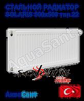 Стальной радиатор Solaris 500x500 тип 22 боковое подключение