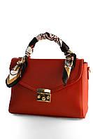 Жіночий портфель з хустинкою/женский портфель с платком/ в 4-х кольорах. Червоний.