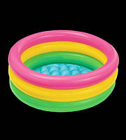 Детский надувной бассейн Радуга, 90х35 см