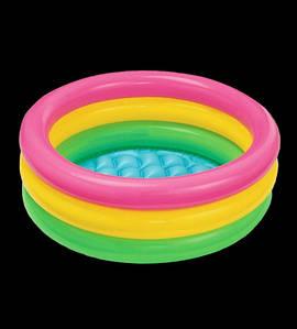 Детский надувной бассейн Радуга, 90х35 см (НадувБас_радуга- 9035)