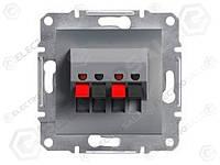 EPH5700162 Аудиорозетка без рамки сталь Asfora, EPH5700162