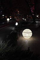 Светильник Сфера с осветительным блоком Ø60х60 Кофе с молоком (Pradex ТМ) Белый, Ø100х100