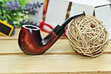 Трубка для курения KAF 226 Bent ручной работы из натурального дерева груши под фильтр 9 мм, фото 2