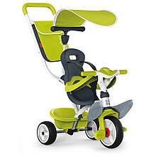 Детский велосипед с ручкой Smoby Беби Балад 2 зеленый Baby Balade 741100