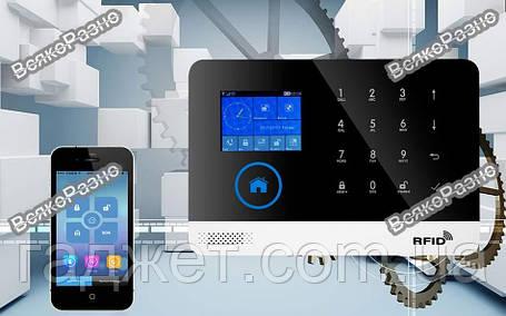 Беспроводная GSM WiFi сигнализация Smart 103 (PG-103) с не оригинальными датчиками., фото 2