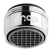 Водосберегающая насадка аэратор для смесителя DROP PM17T-24, расход 1,7 л/мин, внешняя резьба 24мм, с