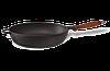 Сковорода чугунная (сотейник)  с деревянной ручкой, d=260мм, h=60мм