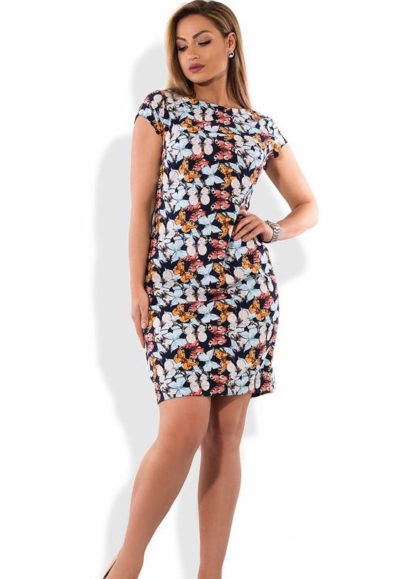 Стильное коктейльное платье размеры от XL ПБ-303