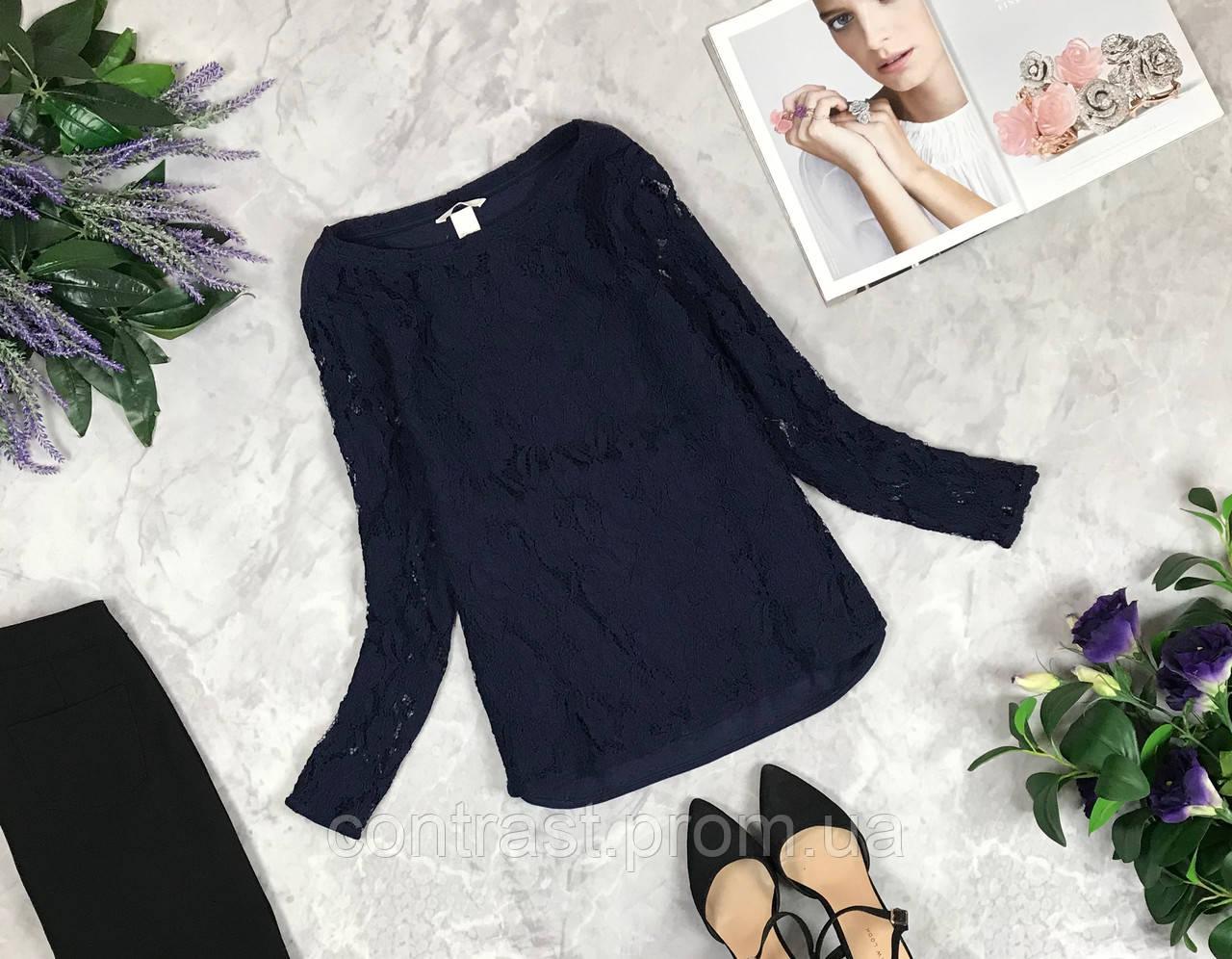 Гипюровая блуза насыщенного цвета  BL1923018