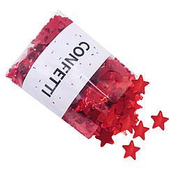 Конфетти звездочки красные 250 г