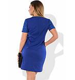 Красивое женское платье синего цвета размеры от XL ПБ-410, фото 2