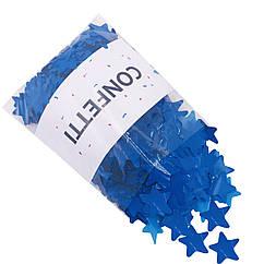 Конфетти звездочки синее 250 г