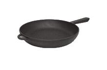 Сковорода чавунна з литої металевої ручкою, d=200мм, h=35мм