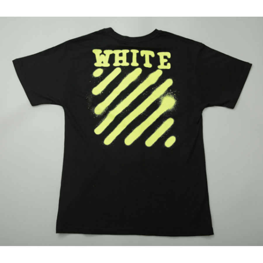 3b2dc62823e98 Футболка Off White Spray Paint Label T-Shirt (Black) мужская,женская ...