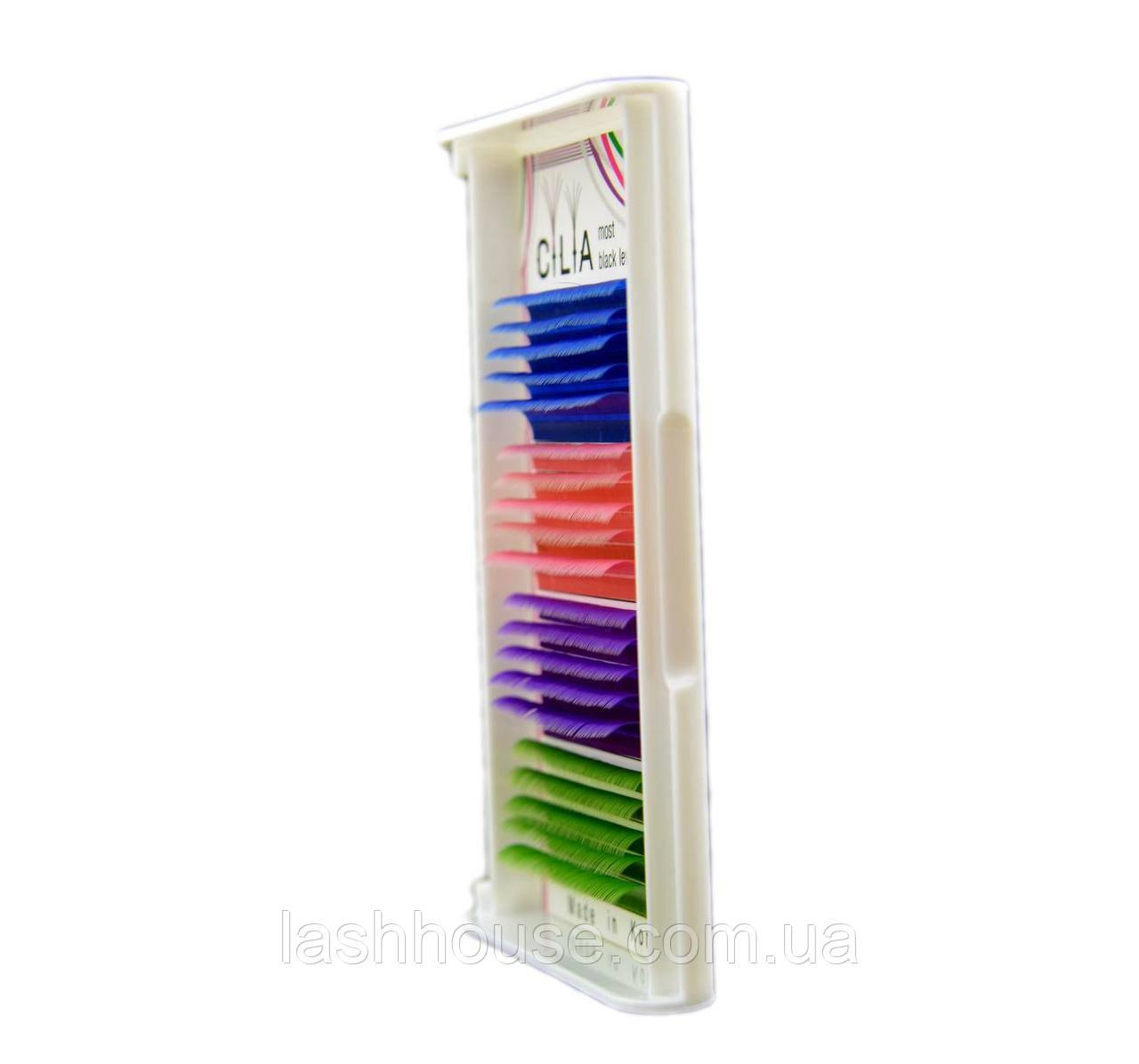 Cilia цветные ресницы Smix (4 цвета)