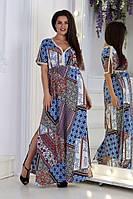 Женское свободное стильное летнее платье №3009 (р.48-58) 1, фото 1
