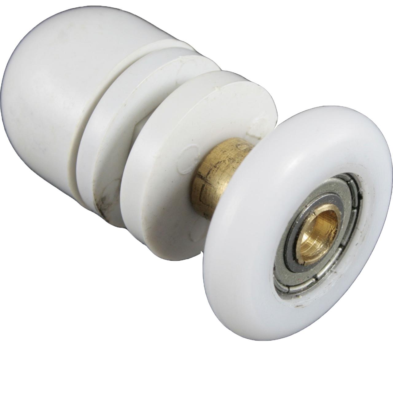 Ролик душової кабіни одинарний, білий ( В-06 А ) 26 мм