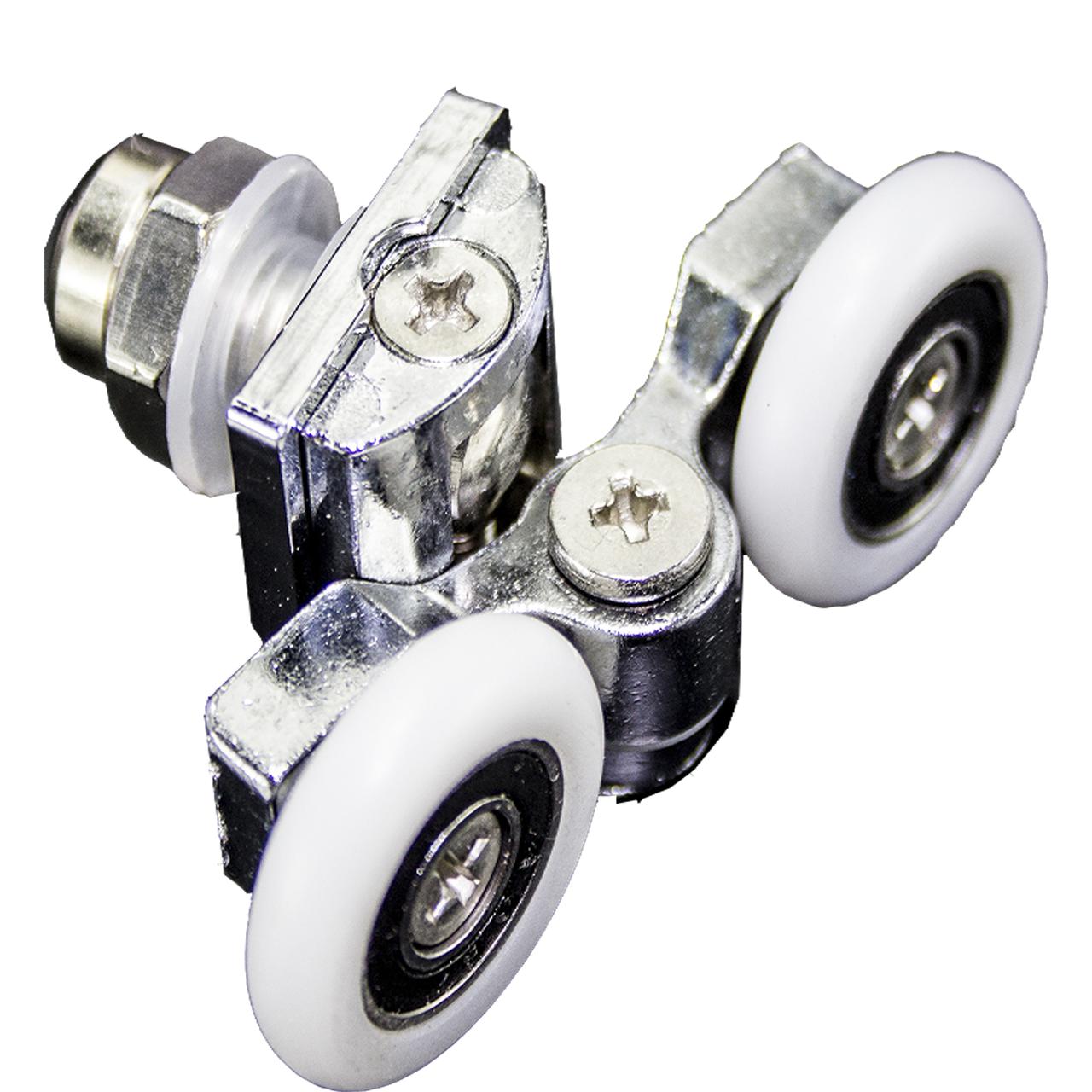 Ролики душевой кабины металлические, двойные, поворотные  ( В-07 А ) 23 мм, 8 мм