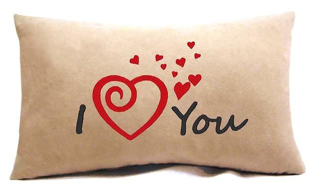 """Подушка для """"Влюбленных""""№20 """"I love you"""""""