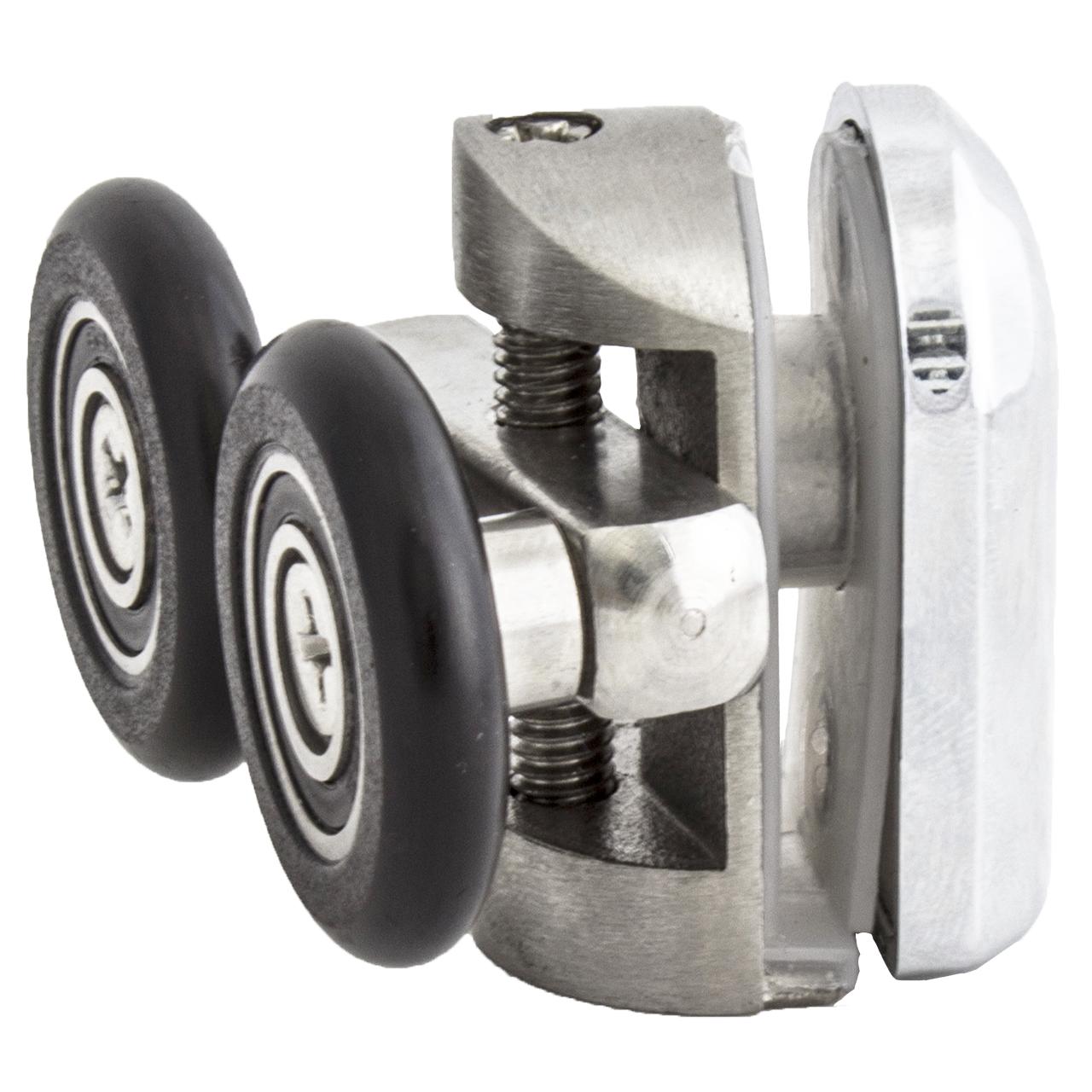 Ролик душової кабіни подвійний, верхній, металевий, нержавійка ( N-43C ) 23 мм
