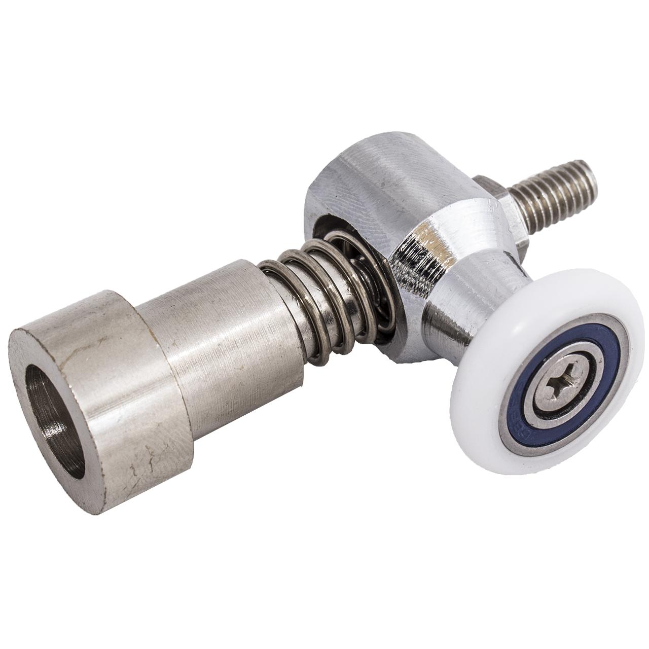 Ролик душової кабіни нижній, металевий, одинарний, натискної, ( До-65 )