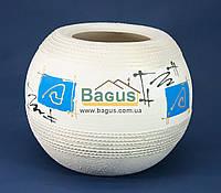 Ваза керамическая круглая (диаметр - 24см, высота - 18 см), роспись - абстракция (Украина)