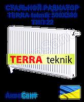 Стальной радиатор TERRA teknik 500x500 тип 22 боковое подключение, фото 1