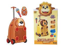 Детский чемодан Собака, с микрофоном и на пульте управления
