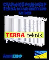 Стальной радиатор TERRA teknik 500x1500 тип 22 боковое подключение, фото 1
