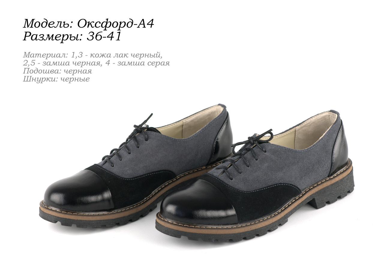 Осінні туфлі на шнурках. Шкіра.