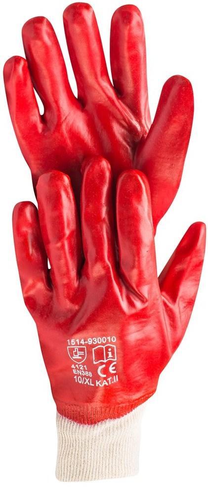 Перчатки промышленные с ПВХ Hardy EN 388-4121, размер XL, 12 пар