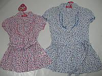 Рубашка-платье для девочки, размеры 4 лет, арт.СУ 930