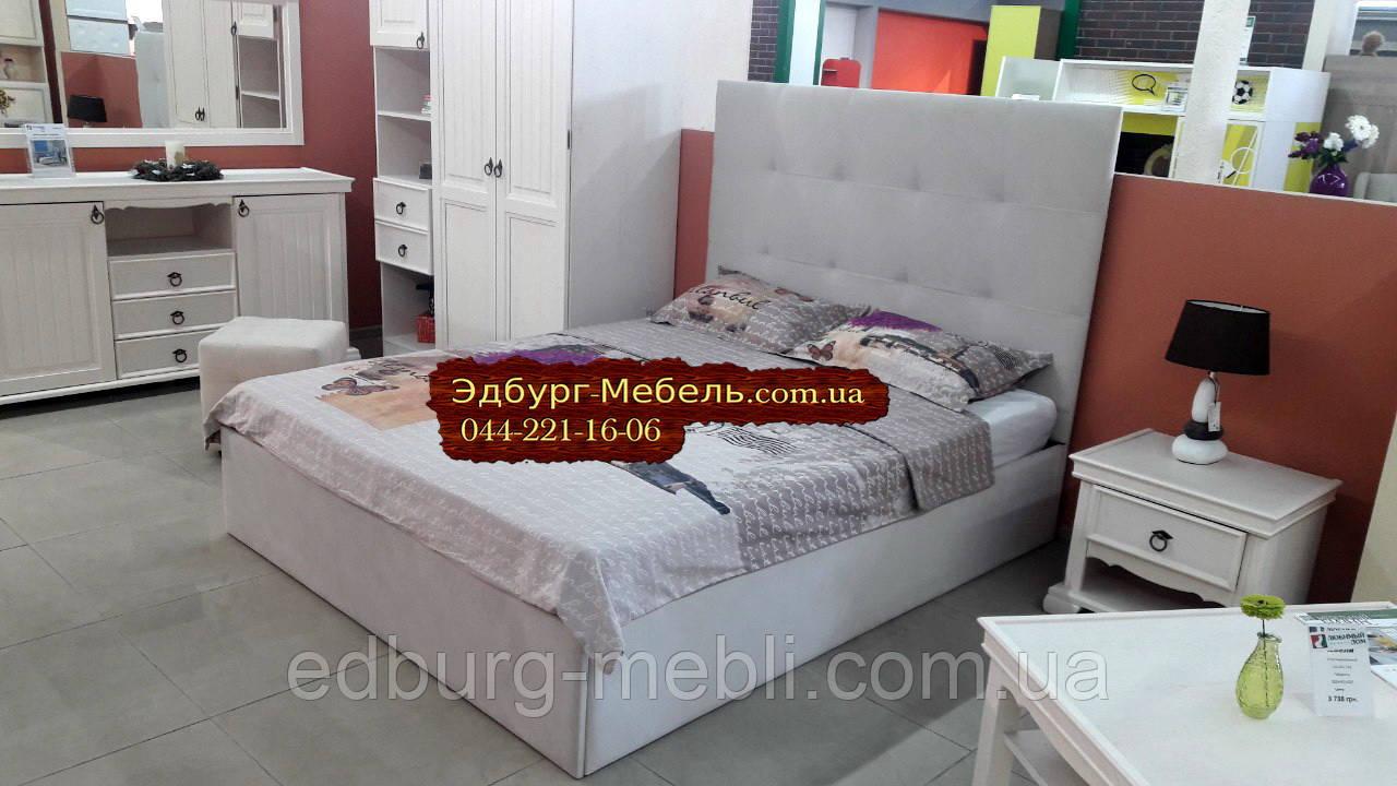 Двоспальне ліжко з м'яким узголів'ям 1670х2200мм