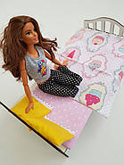 Комплект кукольного постельного белья NestWood для спальни Барби (pb001), фото 3