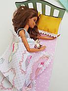 Комплект кукольного постельного белья NestWood для спальни Барби (pb001), фото 4