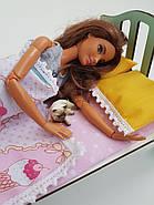 Комплект кукольного постельного белья NestWood для спальни Барби (pb001), фото 5