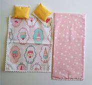 Комплект кукольного постельного белья NestWood для спальни Барби (pb001), фото 2