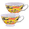 Чайный набор фарфор «Увлечение» : 2 чашки на 200 мл. с блюдцами, фото 4