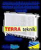 Стальной радиатор TERRA teknik 500x1200 тип 22 нижнее подключение
