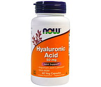 NOW Hyaluronic Acid 100 мг - 60 веган капсулы