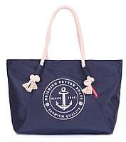 Летняя сумка Poolparty с морским принтом (темно-синяя)
