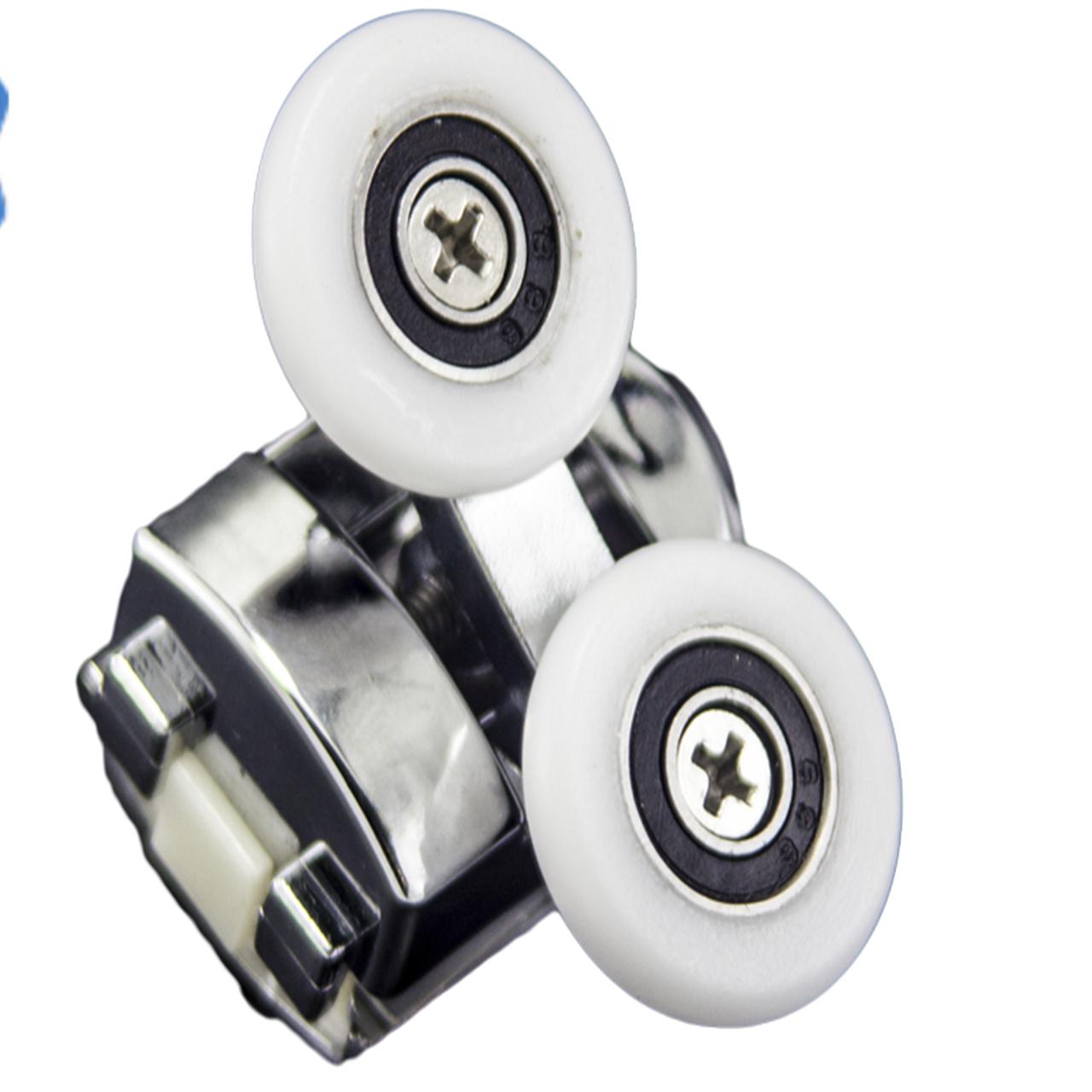Ролики для душових кабін, подвійні, хромовані ( M-02 В )