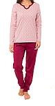 Теплая пижама женская зимняя хлопковая комплект домашний кофта и штаны Украина, фото 2