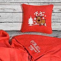 """Набор: подушка + плед """"С Новым Годом"""" 23 цвет на выбор"""