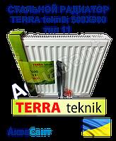 Сталевий радіатор TERRA teknik 500x900 тип 11 бокове підключення