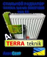 Стальной радиатор TERRA teknik 500x1100 тип 11 боковое подключение, фото 1